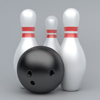 bowling emojis 3D model