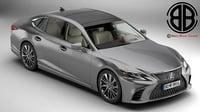 3D lexus ls 500 2018 model