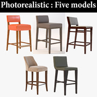 stool bar realistic 3D