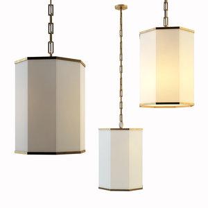 3D chandelier laban hanging shade