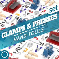 clamps presses 3D model