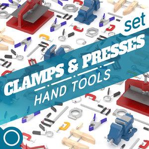 clamps presses 3D model