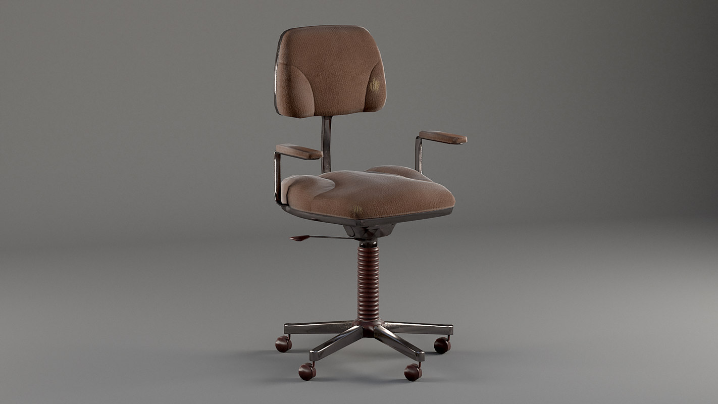 old office chair 3D