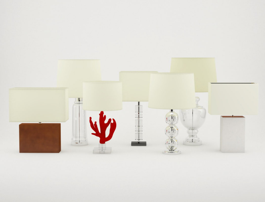 table lamps zara home 3D model
