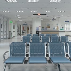 3D realistic hospital interior