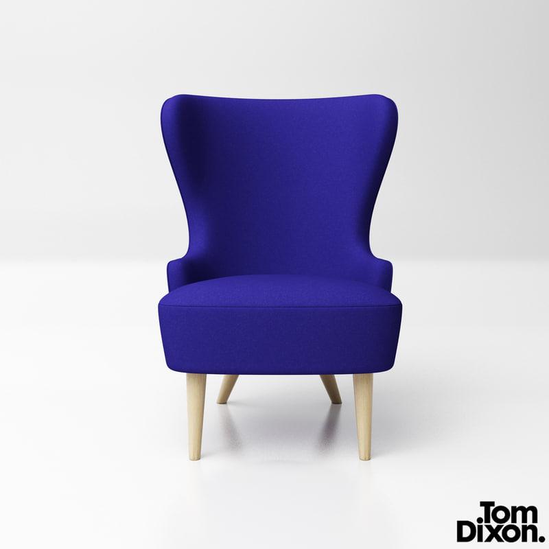 tomdixon wingback micro lounge chair model