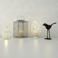 3D model lanterns zara home