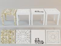tables zara home 3D model
