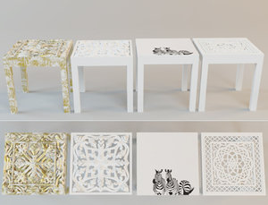 tables zara home 3D model