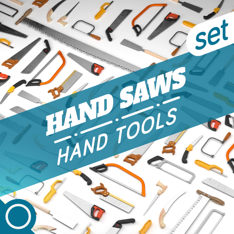3D hand saws model