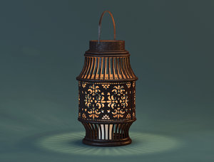 alli lantern zara home 3D model