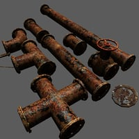 metal pipe pack 3D