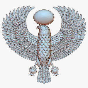 3D model horus egyptian falcon god