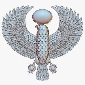 3D model horus egyptian falcon god