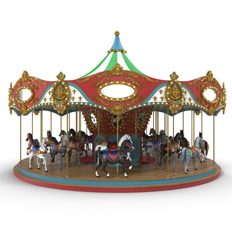casino carousel 3d model turbosquid