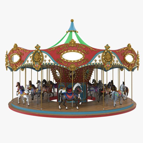 carousel 3D model