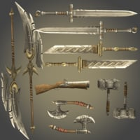 3D rpg weapons pack
