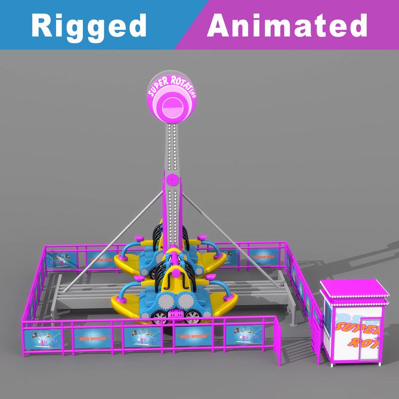 3D pendulum playground rigged animation model