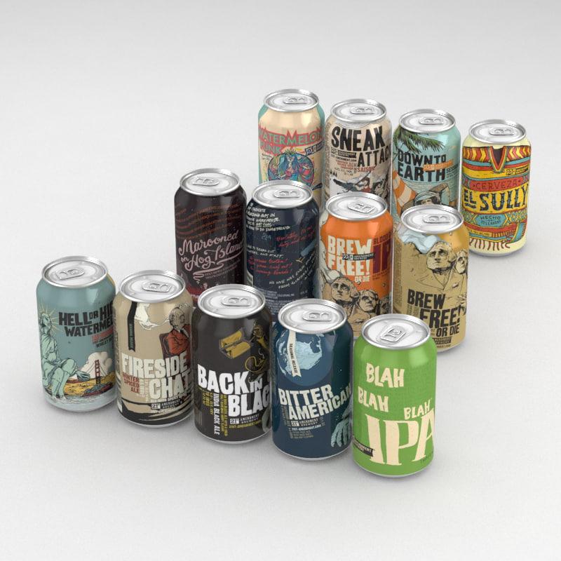 3D model beer 21st amendment 12fl