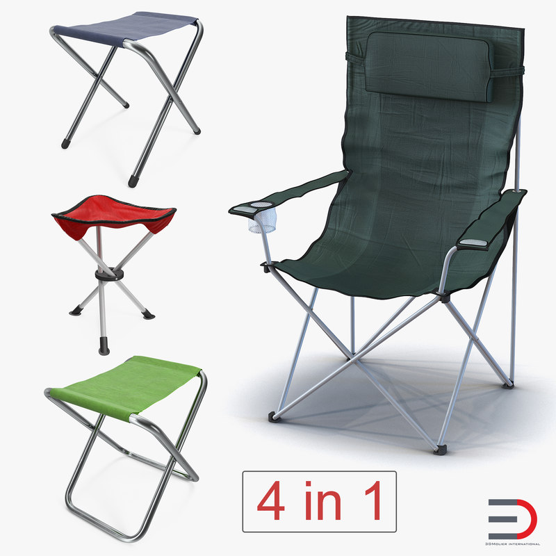 3D outdoor folding chairs