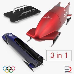 3D olympic sleds model