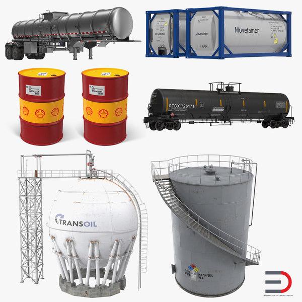 oil storage tanks 2 3D model