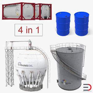 oil storage tanks model