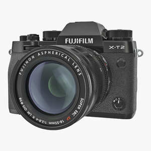 3D model mirrorless digital camera fuji