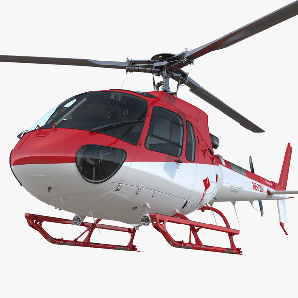 medical transport helicopter eurocopter 3D model
