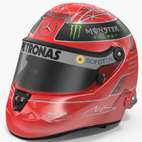 3D helmet michael schumacher 2012 model