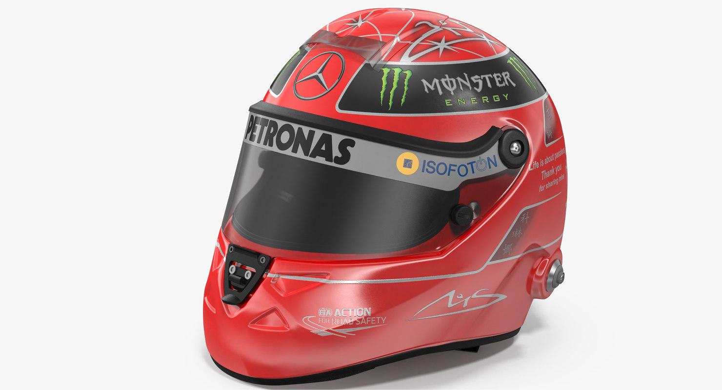 3D helmet michael schumacher 2012 model