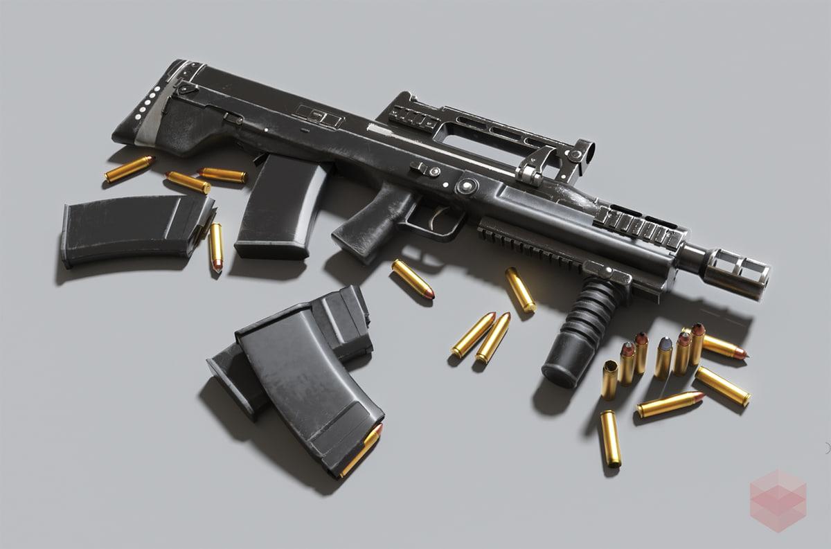 gun russian rifle special 3D model