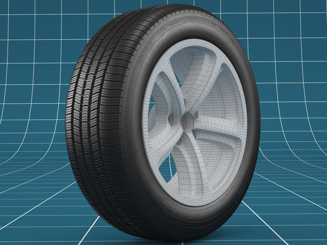 3D realistic car tire