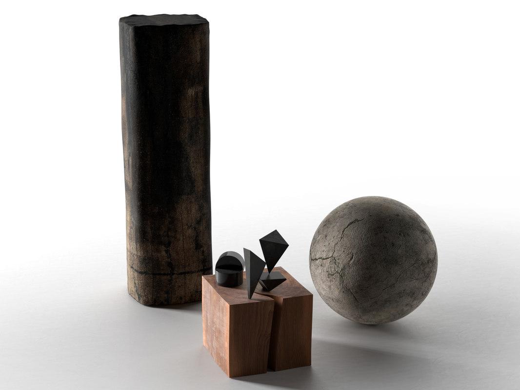 decorative objects set 3D model