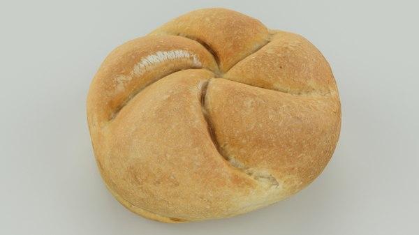 3D scan bread roll - model