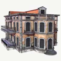 abandoned mansion 3D