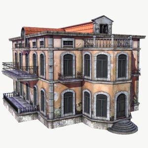 abandoned mansion 3D