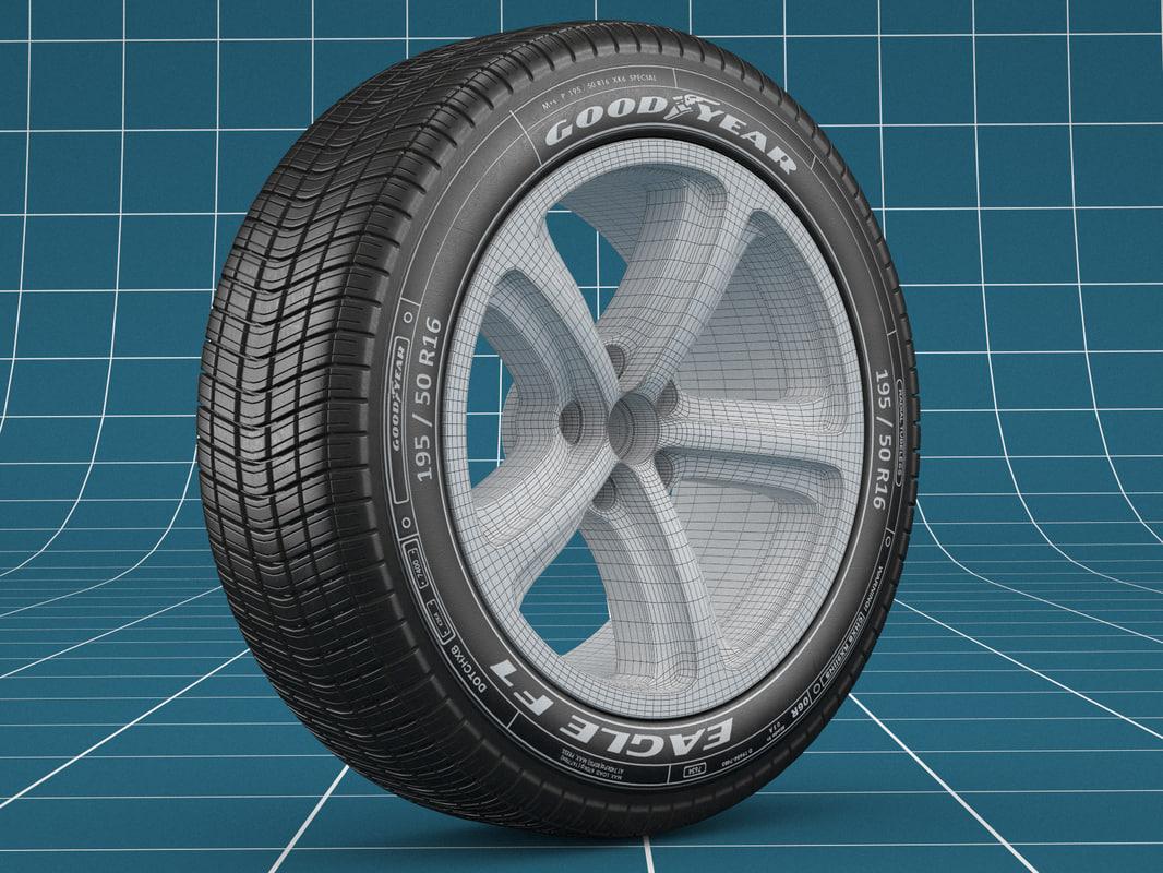 3D realistic car tire model
