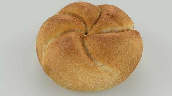 3D scan bread roll -
