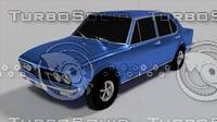 3D model vintage car 1973