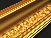 3D cornice mold decor model