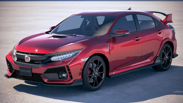 3D honda civic type