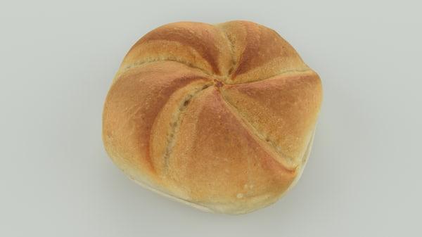 scan bread roll - 3D model