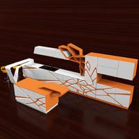 3D hi-tech kitchen 02
