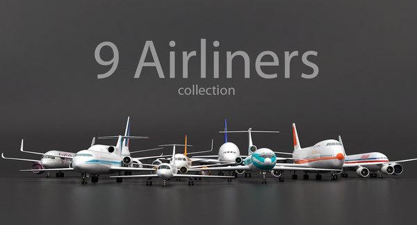 3D air liners pack model