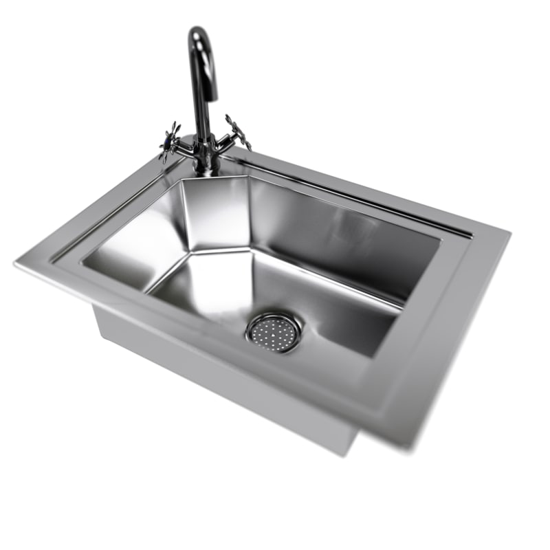 3D kitchen sink water tap
