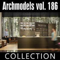 archmodels vol 186 desks 3D model