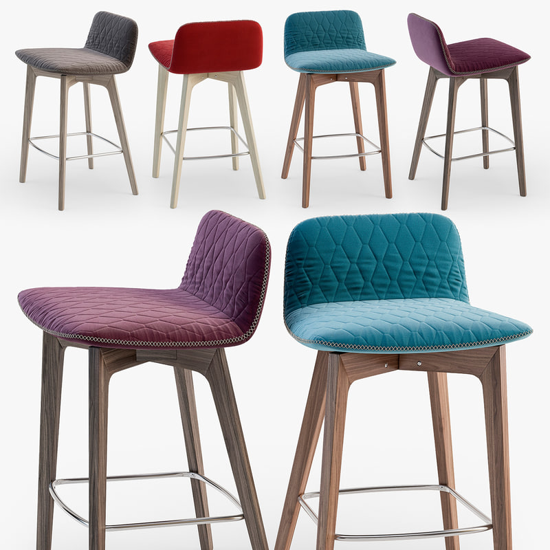 3D calligaris sami stool model