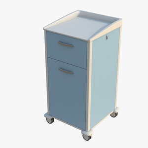 3D bedside locker model