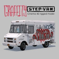 3D graffity step-van